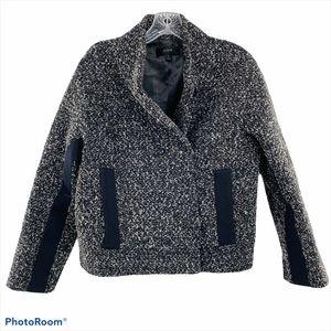 J. CREW   Marled Boucle Wool Gray Jacket Coat